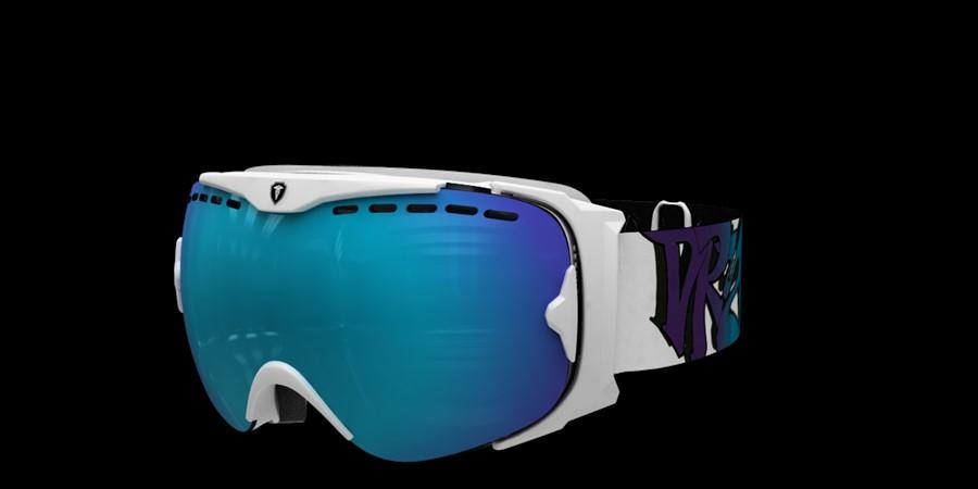 Guard Smallface L V Vit med blå multi lins