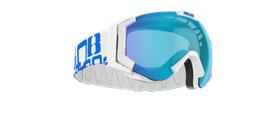 Carver SmallFace - White w blue multicoated lens