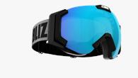Carver Goggles - Svart med blå multicoated lins