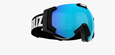 Carver Goggles - Black w blue multicoated lens