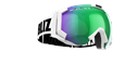 Carver Goggles - White w green multicoated lens