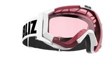 Carver Goggles - Vit med rosa kontrastlins