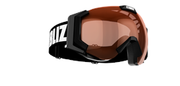 Carver Goggles - Black w orange contrast lens