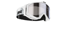 Edge Goggles - White w mirror lens