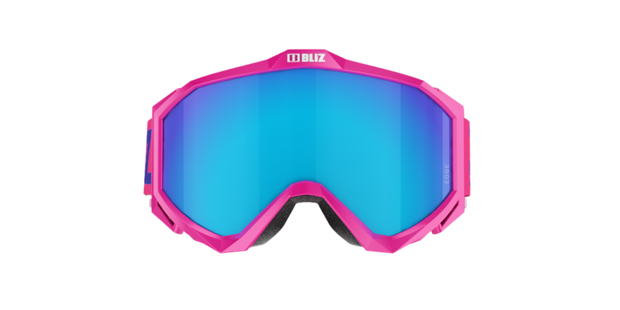 Edge Goggles - Pink w blue multi lens