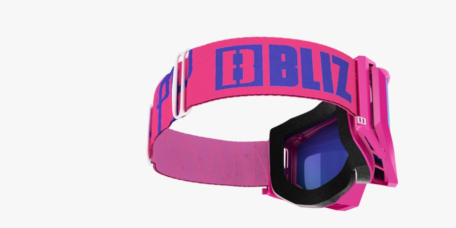 Edge Goggles - Pink w blue multi lens