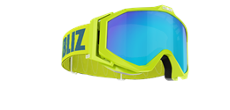 Edge Goggles - Lime Green w blue multi lens