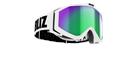 Edge Goggles - White w green multi coated lens