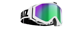 Edge Goggles - White w green multi coated lens