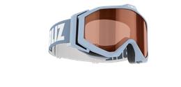 Edge Goggles - Light blue w orange contrast lens