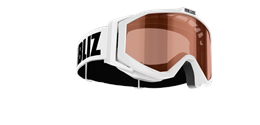 Edge Junior Goggles - White w orange contrast lens
