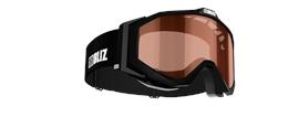 Edge Junior Goggles - Black w orange single lens