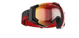Carver XT Goggles - Black with red multi lins