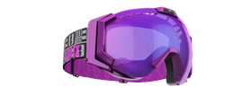 Carver XT Goggles - Purple with blue multi lins