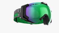 Carver XT Goggles - Svart med grön multilins