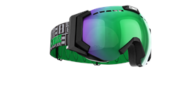 Carver XT Goggles - Black with green multi lins