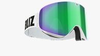 Flow Goggles - vit med grön multilins