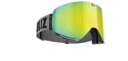 Flow Goggles - Black with gold multi lens