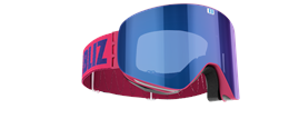 Flow Goggles - Pink with blue multi lens