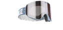 Flow Goggles - Light blue, with silver mirror lens