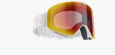Flow Goggles - Light grey with red multi lens