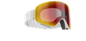 Flow Goggles - Ljusgrå, med röd spegellins