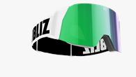 Air Goggles - Vit med grön multilins