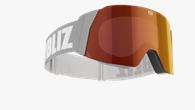 Air Goggles - Grå med röd multilins