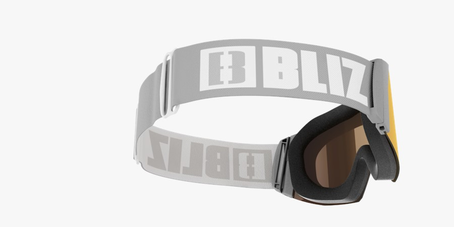 Air Goggles - Grey with red multi lens