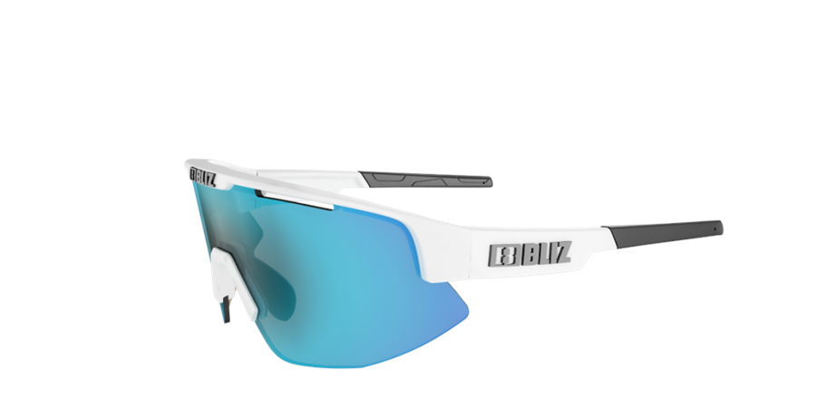 Matrix sports glasses - White w blue multi