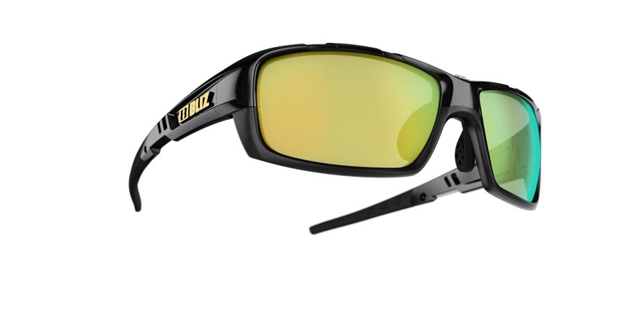 Tracker Sunglasses - Black - Smoke with Gold Multi by Bliz 0O4gZVMU