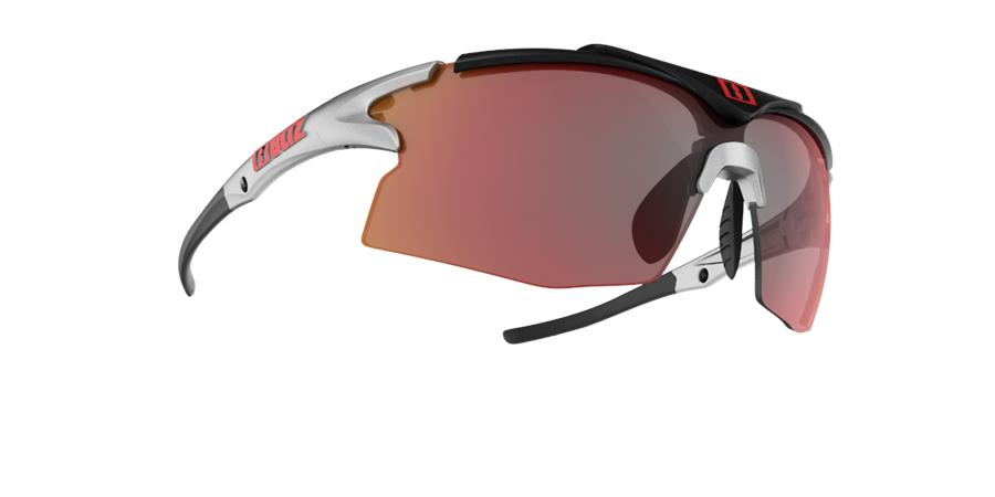 Bliz Tempo Sunglasses Red Multi Lens - Silver/Black 1Xsk4R