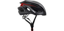 Defender Bike Helmet Black/Red Medium Large